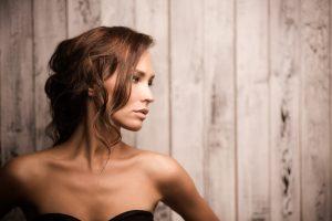 Portrait of professional model girl