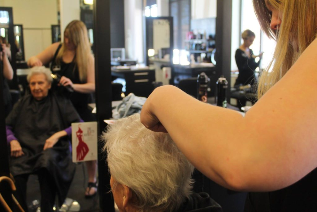 Curling Hair at the Montana Academy of Salons