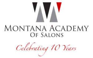 Celebrating 10 Years Montana Academy of Salons Logo