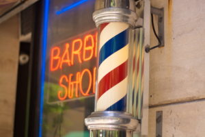 barbershop pole red/blue