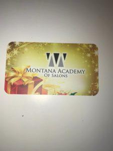 one Montana Academy Gift card